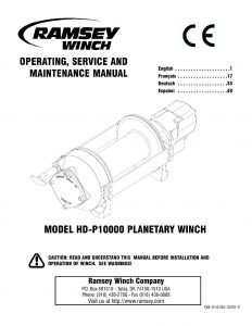 914186-0209-E (HDP 10000 Owners Manual) - Ramsey Winch - Be